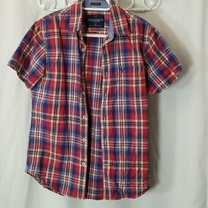 American Outfitters Plaid Womans button Up Size S